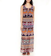JCPenney City Triangle Sleeveless Print Belted Maxi Dress- Juniors
