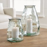 Crate & Barrel Recycled Hurricane Candle Holders
