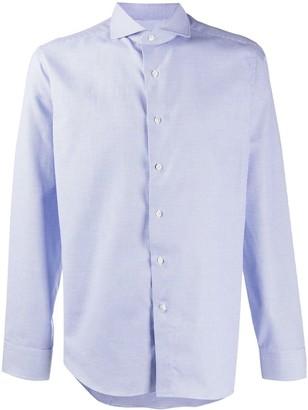 Canali Micro-Geometric Woven Shirt