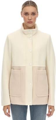 Sportmax Wool & Cashmere Flannel Jacket