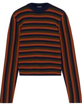 Iris & Ink Seri Striped Merino Wool Sweater