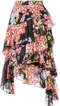 Josie Natori Hokkaido Blossom tiered skirt
