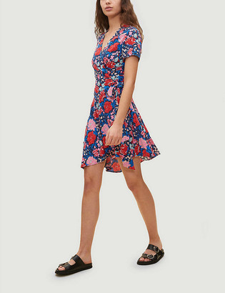 Claudie Pierlot Floral-print crepe mini dress