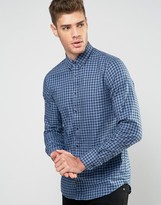 Tommy Hilfiger Shirt With Small Check In Slim Stretch