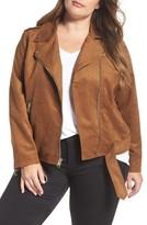 Levi's Plus Size Women's Levis Faux Suede Moto Jacket