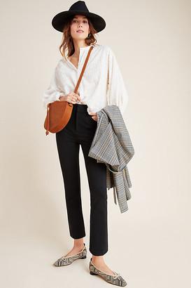 Anthropologie The Essential Slim Tulip-Hem Pants By Essentials by in Black Size 6