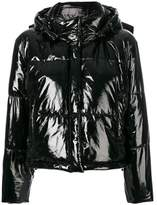 MSGM Women's Black Polyester Down Jacket.