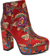 Bamboo Red Floral Connection Bootie