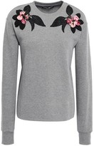 Dolce & Gabbana Floral-appliqued French Cotton-terry Sweatshirt