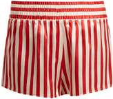 MORGAN LANE Corey striped silk pyjama shorts