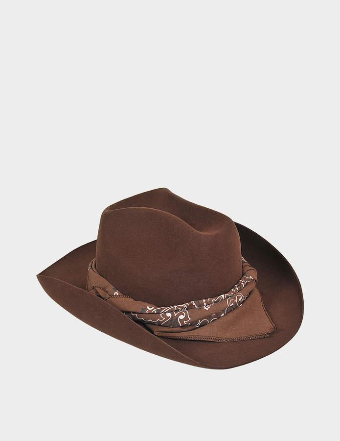Maison Michel Masculine Plain Lucky Hat