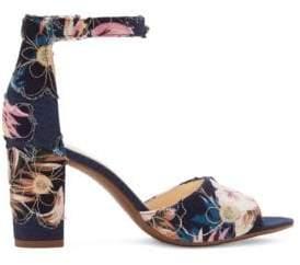 Jessica Simpson Sherron Denim Ankle-Strap Sandals