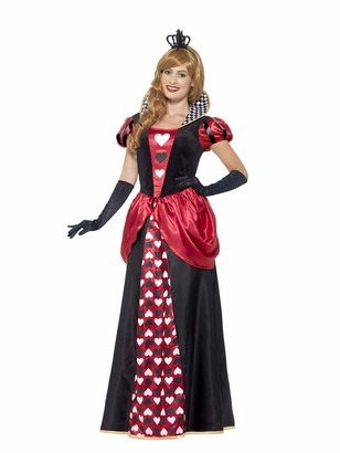 Smiffys Women's Royal Red Queen Costume Dress and Crown Wings and Wishes Serious Fun Plus Size 22-24 45489
