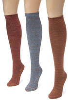 Muk Luks 3 Pair Lurex Knee High Socks