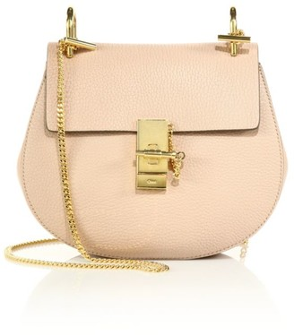 Chloé Small Drew Leather Saddle Bag