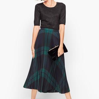 Talbots Black Watch Plaid Pleated Skirt