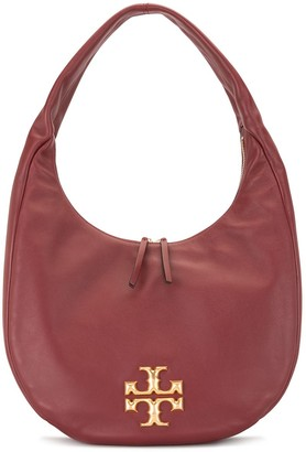 Tory Burch Logo-Plaque Hammock Shoulder Bag