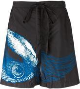 La Perla flying oyster print swim shorts