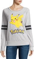 Hybrid Tees Pokemon Burnout Sweatshirt- Juniors