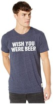 Original Retro Brand The Wish You Were Beer Vintage Tri-Blend Tee (Streaky Navy) Men's Clothing