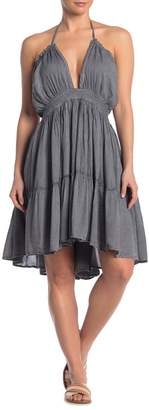 BOHO ME Woven Halter Cover-Up Dress