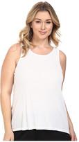 Yummie by Heather Thomson Plus Size 2x1 Pima Rib Racer Tank Top