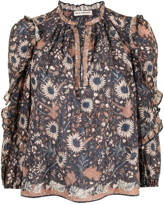 Ulla Johnson Manet batik floral print blouse