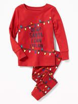 """Old Navy """"Dear Santa: I Can Explain"""" Sleep Set for Toddler & Baby"""