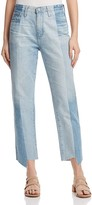 AG Jeans Phoebe Vintage High-Rise Tapered-Leg Jeans in 19 Years Splinter