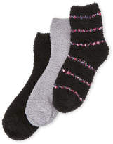 Ellen Tracy 3-Pack Stripe Cozy Crew Socks