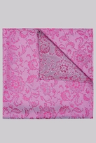 Hardy Amies Pink and Blue Paisley Pocket Square