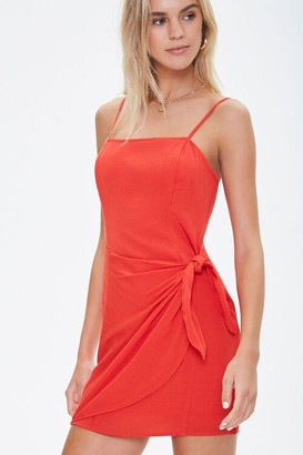 Forever 21 Cami Self-Tie Overlay Mini Dress