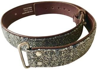 Dries Van Noten Gold Leather Belts