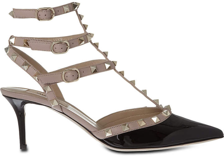 Valentino So Noir 65 patent-leather heeled sandals