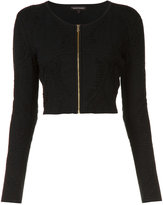 Sophie Theallet cropped zip jacket - women - Silk/Polyamide/Polyester - S