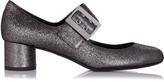 Lanvin Buckle-detail metallic-nappa pumps