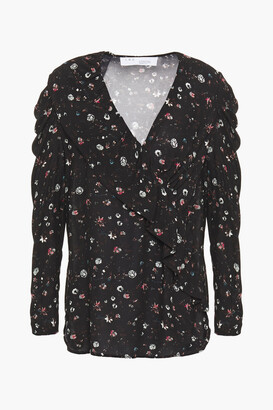 IRO Syrup Ruffle-trimmed Floral-print Woven Top