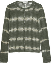 Autumn Cashmere Tie-dye open-knit cotton sweater