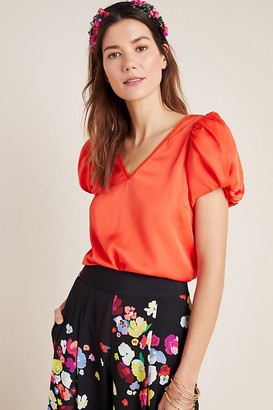 Anthropologie x Delpozo Puffed-Sleeve Top