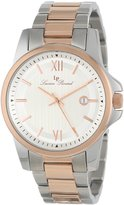 Lucien Piccard Men's 10048-SR-22S Breithorn Textured Dial Two Tone Stainless Steel Watch