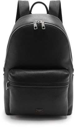 Dolce & Gabbana Palermo Logo-plaque Grained-leather Backpack - Black
