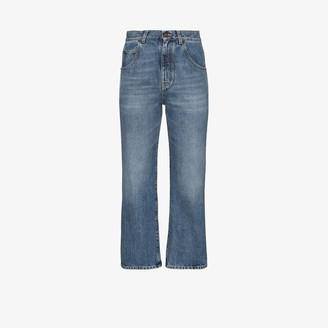 Saint Laurent '70s Straight Leg Cropped Jeans