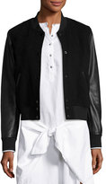 Rag & Bone Camden Wool-Blend & Leather Varsity Jacket