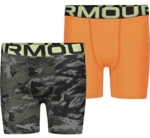 Under Armour Big Boys Abc Camo 2 Pack Boxer