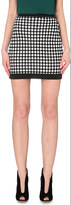 Balmain harlequin-print stretch-knit skirt