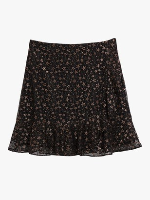 Oasis Star Lace Mini Skirt, Black