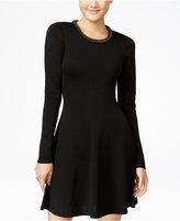 XOXO Juniors' Embellished Fit & Flare Sweater Dress