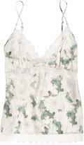 Rosie floral-print silk-satin camisole
