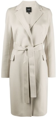 Theory Long-Sleeved Belted Coat