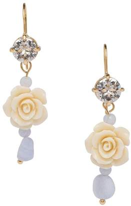 Prada Rose Crystal-Embellished Dangle Earrings